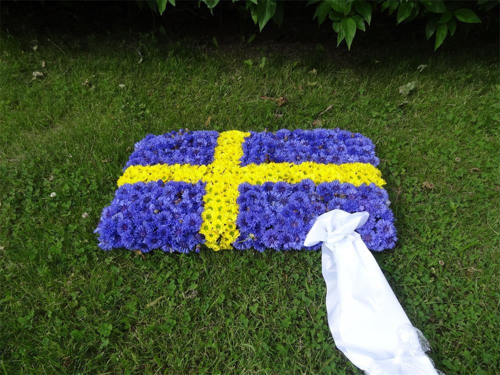Begravningsdekoration Flagga