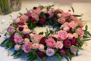 Urnkrans till begravning